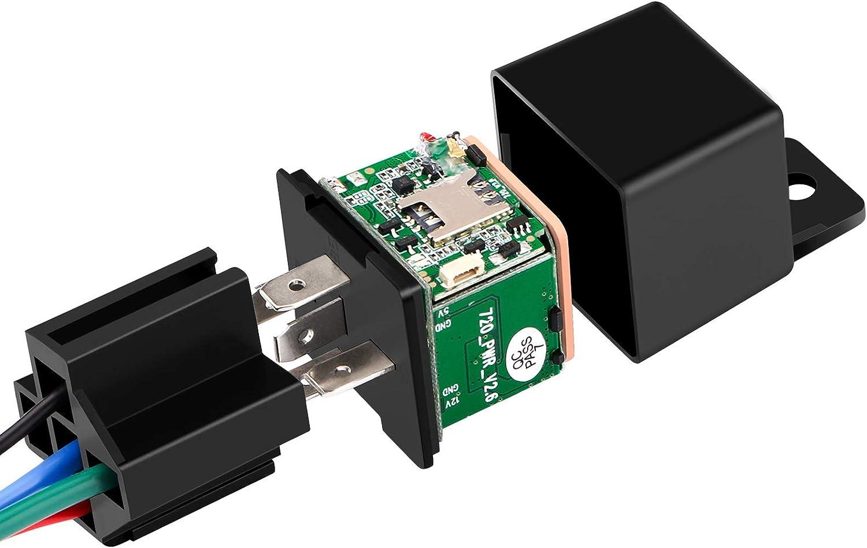 GPS Relé GPS Tracker Car Shock Alarm GPS Localizador GPS Dispositivo de seguimiento Control Remoto Control Anti-robo Control Cortar Combustible Potencia 9-90V (sin Alarma ACC)