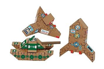 Flugzeug Rakete Panzer 41 Teile Bausteine Aus Pappe Große Bauklötze Aus Wellpappe Baukasten Basteln Konstruktionsbausteine