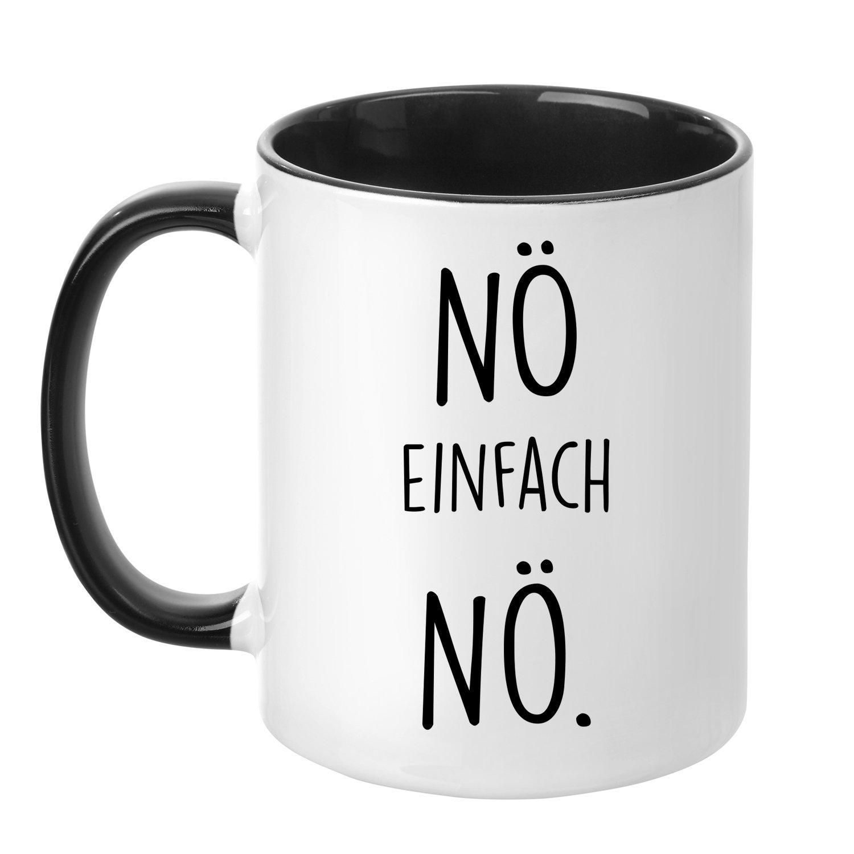 Tasse mit Spruch - Nö einfach Nö - beidseitig bedruckt - Teetasse - Kaffeetasse - lustig - Arbeit - Büro - Chef TassenTicker