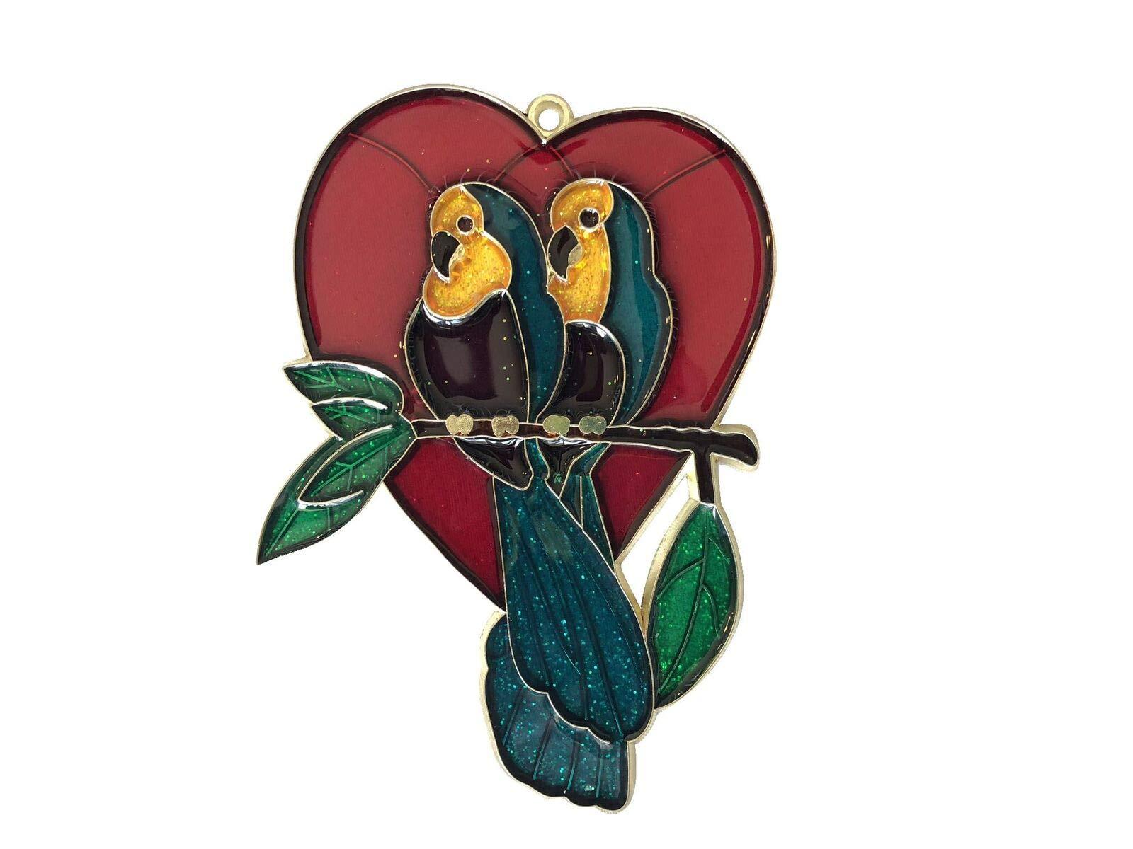 EZ Travel Collection Love Birds Heart Christmas Ornament