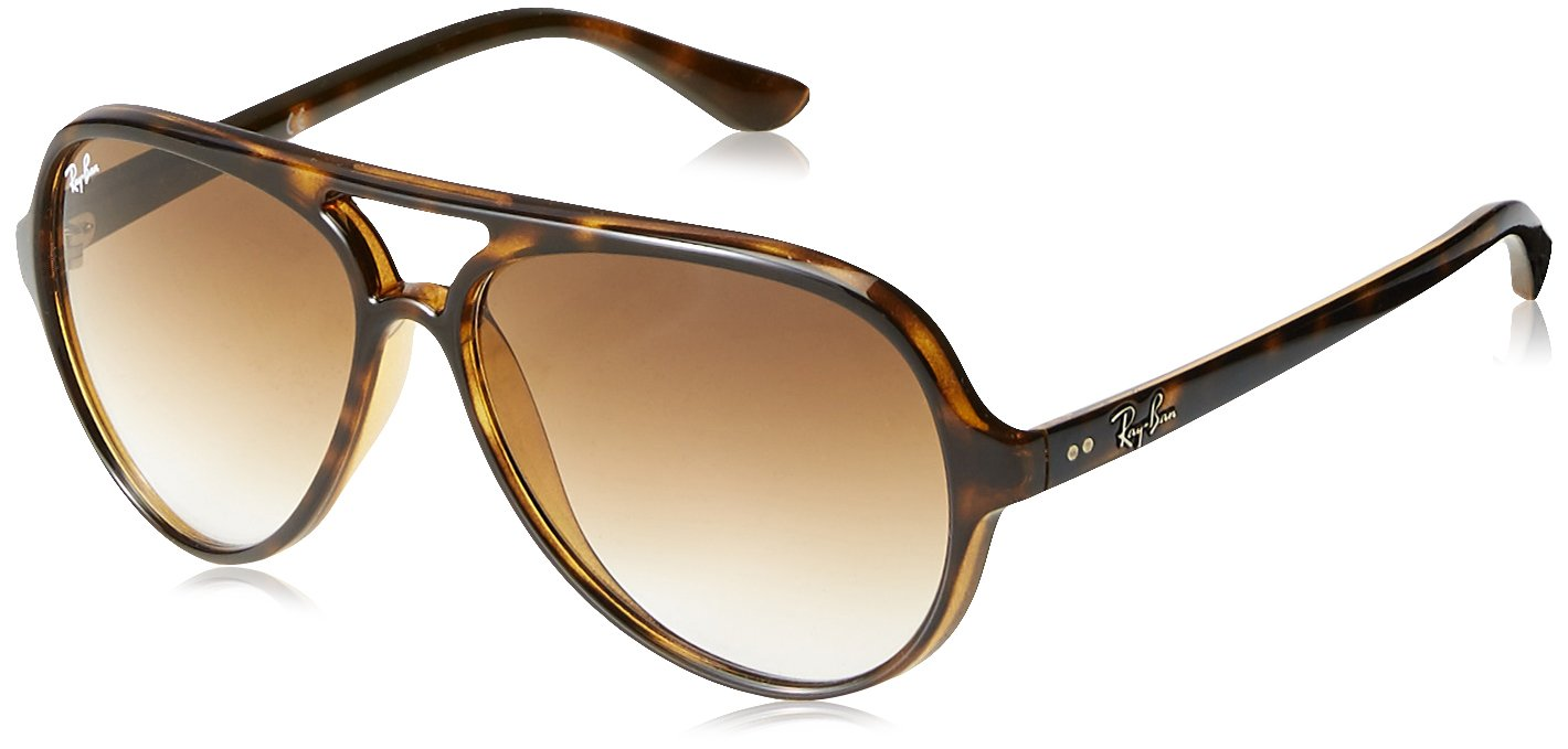 Ray-Ban Women's Pilot Aviator Sunglasses, Matte Havana/Light Brown, One Size