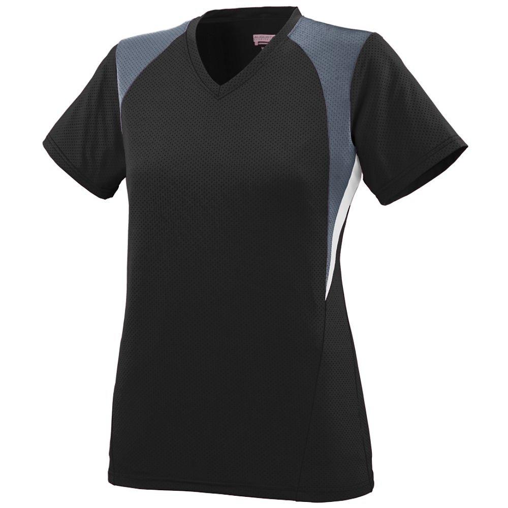 Augusta SportswearレディースMysticジャージー B00JPQ6L30 S black graphite white black graphite white S