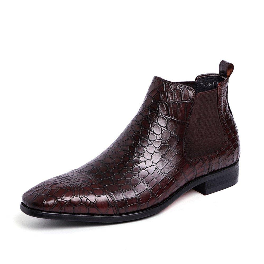 Männer hohe lederschuhe martin stiefel für männer hohe lederschuhe englisch chelsea kurze stiefel,braun,38