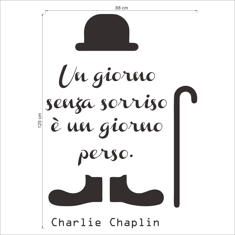 Decalmile Frasi Scritte Adesivi Murali Charlie Chaplin Un Giorno