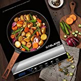 GASLAND chef IH20BL Portable Induction Cooktop 1800W Electric Hob cooker Countertop Burner with Touch Control Ceramic Plate, Black