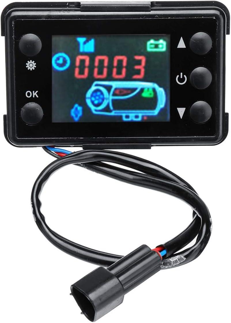 WOVELOT 12V / 24V 3 / 5Kw Pantalla LCD Interruptor del Calentador De Estacionamiento Controlador del Dispositivo De CalefaccióN del Coche Universal para Calentador Aire Pista del Coche