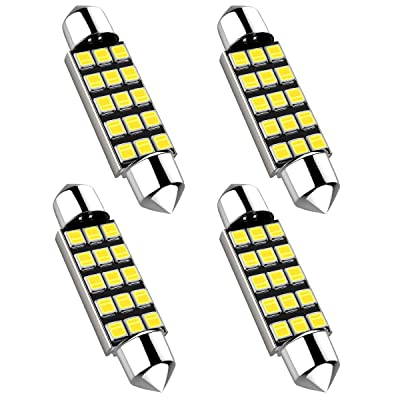 42MM Festoon 578 LED Bulbs, Extremely Bright 15smd 2835 Chipset 212-2 Led Bulbs, DE3425 DE3423 Replacement Bulbs for Car Interior Dome Map Courtesy Lights 1.64 inches 211-1 569 Led Bulbs,4PCS: Automotive
