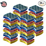 Cleaning Scrub sponge by Scrub-it - Non-Scratch - Printed Scrubbing Dish Sponges Use for Kitchen, Bathroom & More - 24 pack
