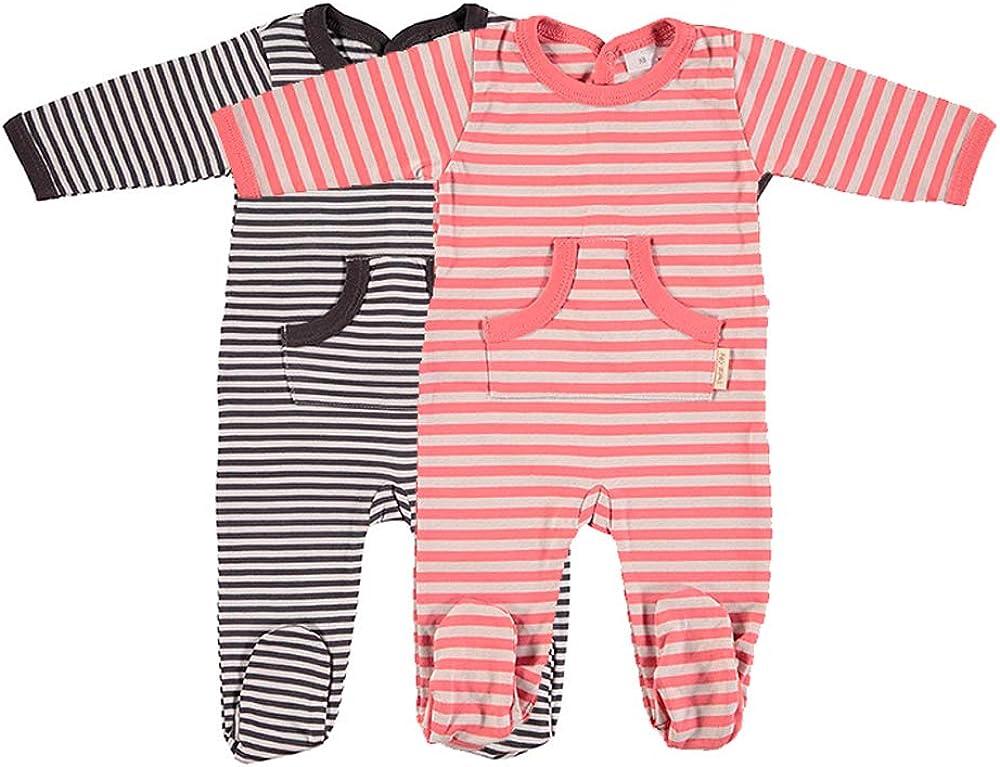 Petit Oh! - Pack de 2 Pijamas Manga Larga para bebé 100% algodón ...