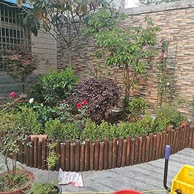 LXFYMX Vallas para Jardin Valla enchufable/Borde de Madera/Cama de ...