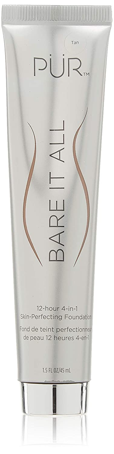PÜR Bare It All 4-in-1 Skin-Perfecting Foundation, Tan, 1.5 Fl Oz