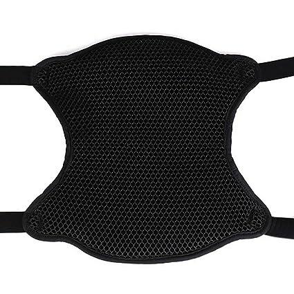 sourcing map Moto Funda de Asiento Transpirable Coj/ín Cubierta de Tejido de Malla Color Negro 63cm X 30cm