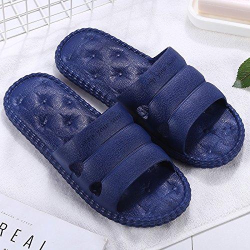 cool maschio home di antiscivolo pantofole coppie dolce casa fankou donna bagno acqua blu Pantofole estate en fuori suite morbido al casa 39 scuro della 40 perdite 77qwt1U