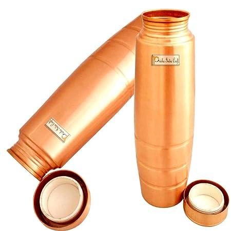 Prisha India Craft - Botella de cobre con agarre ...