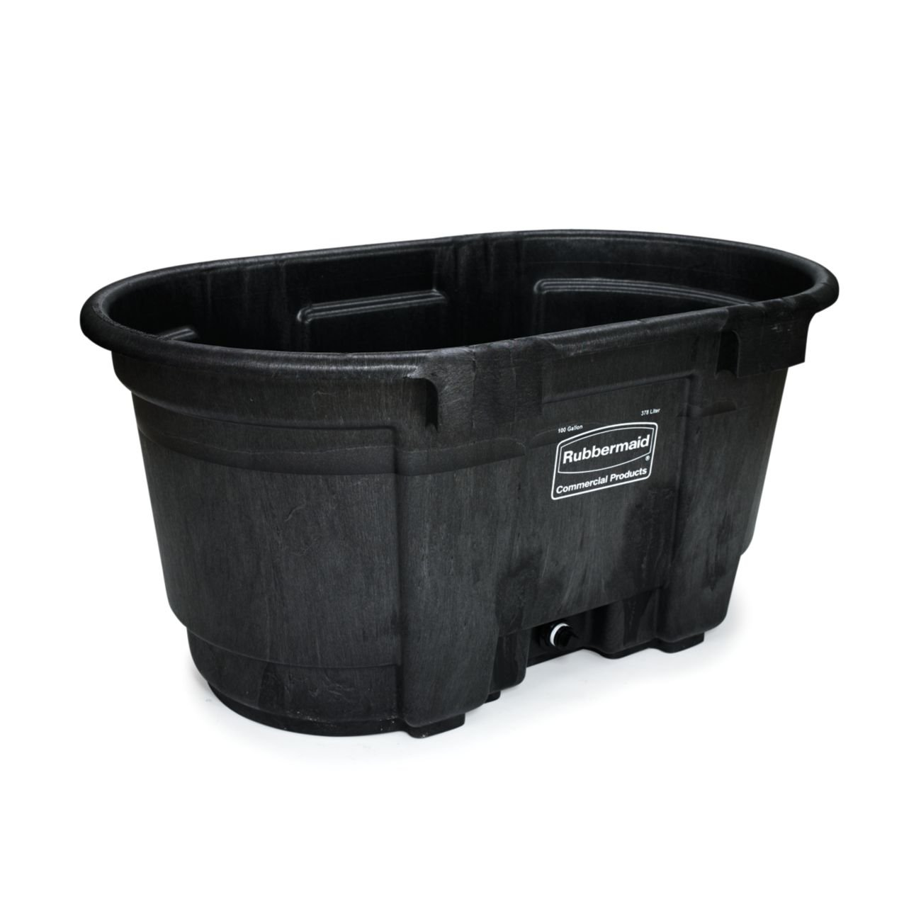 Rubbermaid Commercial FG424288BLA Structural Foam Stock Tank, 100 Gallon Capacity, 53'' Length x 25'' Height, Black