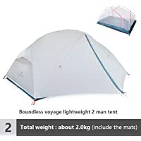 Boundless Voyage Outdoor Camping Ultralight Tent Double Layer Waterproof Tent 2 Person 3 Season Tent for Backpacking Hiking Picnic BV1030