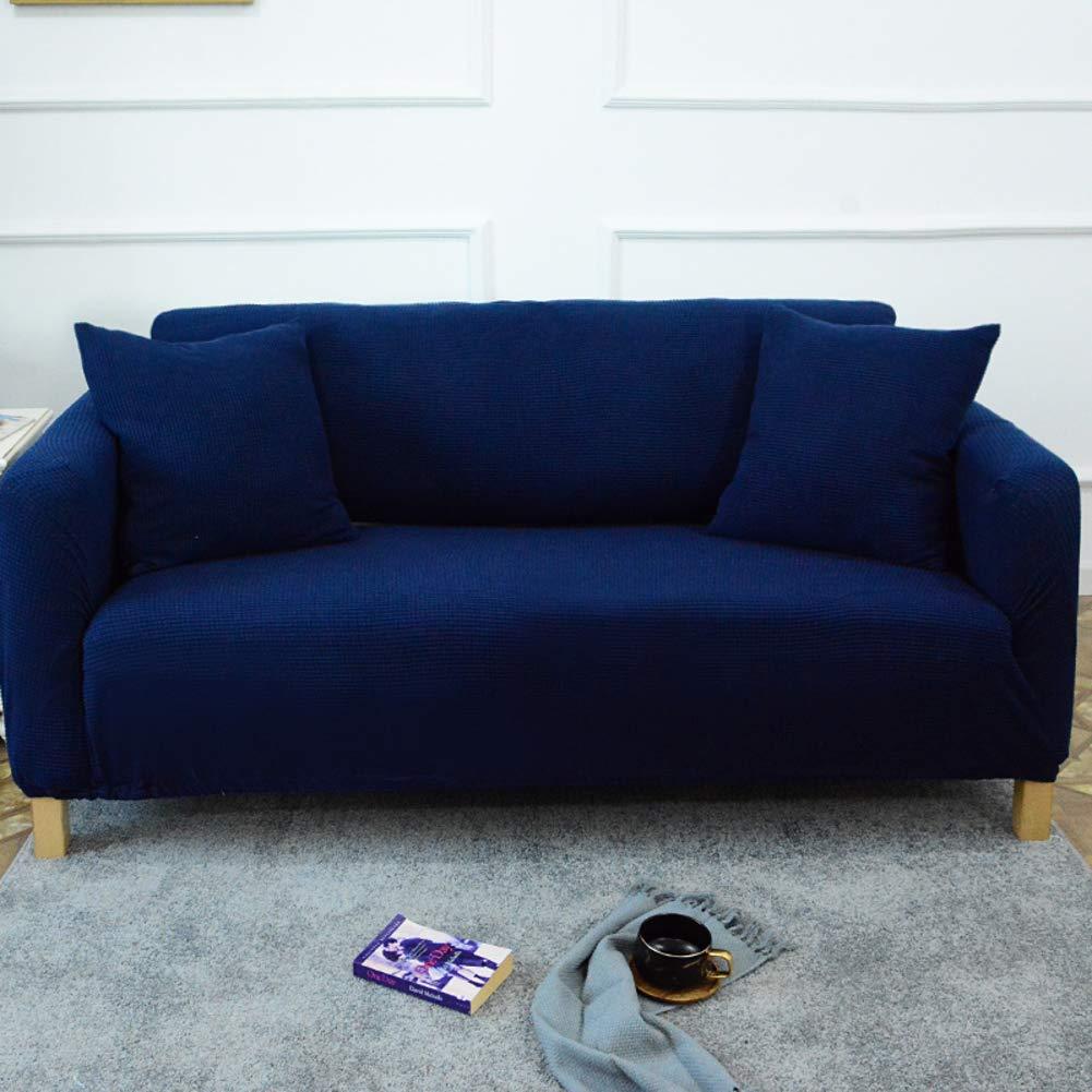 D&LE Color sólido Cubierta del sofá del sofá, 1 2 3 4 Plazas Stretch Tela Protector de sofá Europeo Anti-mite Anti-Arrugas Protector de Muebles-Vino ...