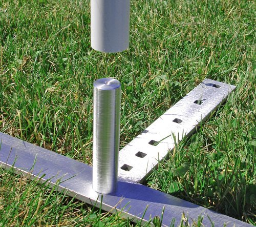 Affordable Agility VersaWeave 12 Pole Set, 24in spacing, with Aluminum Base