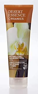 product image for Desert Essence Spicy Vanilla Chai Hand & Body Lotion - 8 Fl Ounce - Uplifting - Smoothes & Softens Skin - No Greasy Residue - Aloe Vera - Shea Butter - Vitamin E