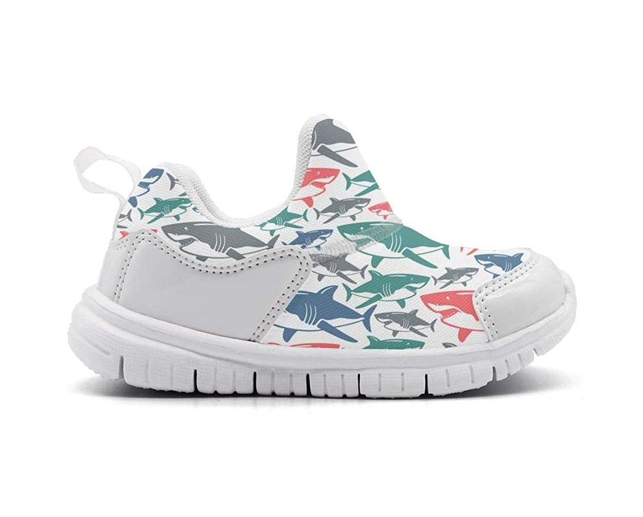 Kids shark birthday decorations Cute Breathable Mesh Athletic Running Shoes