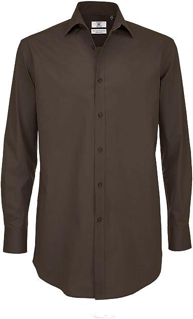 B&C Camisa Formal de Manga Larga Smart Modelo Black Tie - Trabajo/Fiesta/Verano: Amazon.es: Ropa y accesorios