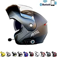 Bluetooth integrado casco de motocicleta modular ECE 22.05