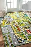 nuLOOM Nursery Fairytale Town Kids Area Rugs, 5' x 7' 5'', Green