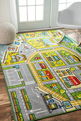 nuLOOM Nursery Fairytale Town Kids Area Rugs, 5' x 7' 5