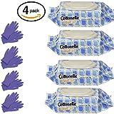 #2: Kleenex Cottonelle FreshCare Flushable Cleansing Cloths, 168 Count (4 Packs x 42 Wipes), Bonus of 8 Disposable Gloves