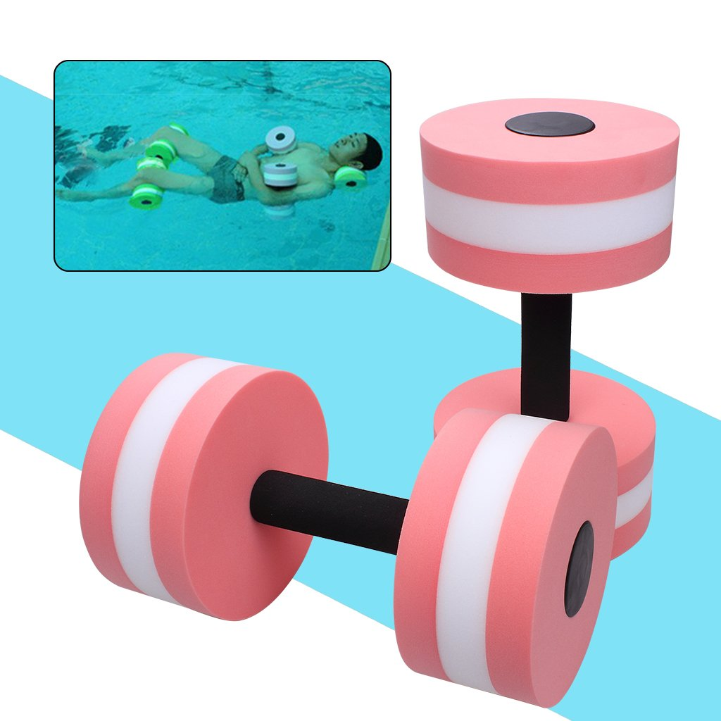 Aquatic Exercise Dumbells- EVA Water Sport Dumbells Barbell For Water Aerobics Yoga Exercise Training Fitness Equipment, Set of 2 (Green) edealing MRLAK12A