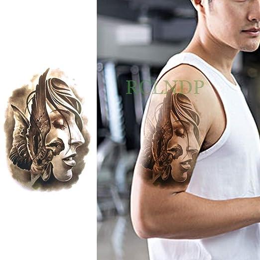 Modeganqing 5 Unidades Impermeable Tatuaje Pegatina tótem Tribal ...