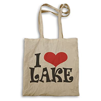f2c4ca3d01a4 I love Lake Novelty Tote bag r2r  Amazon.co.uk  Shoes   Bags