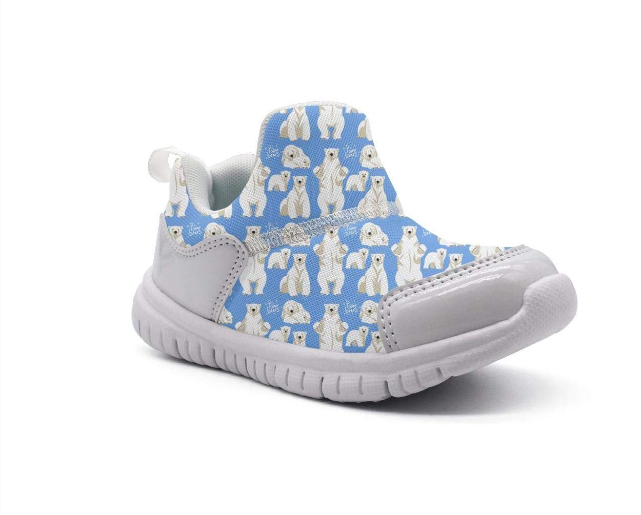 ONEYUAN Children Large Polar Bear Blue Kid Casual Lightweight Sport Shoes Sneakers Walking Athletic Shoes