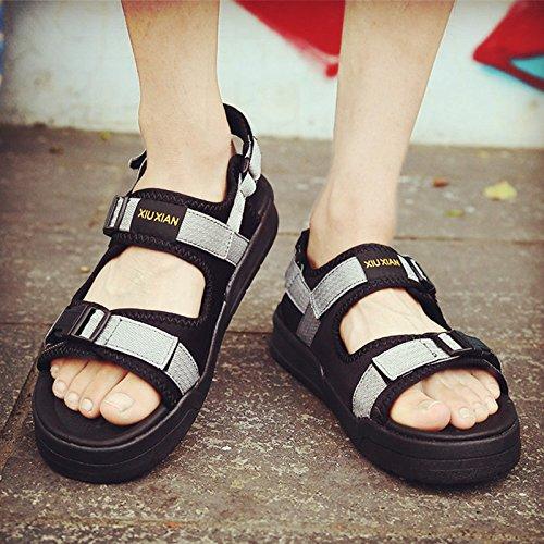 Xing Lin Sandalias De Hombre Macho De Verano Sandalias Y Zapatillas Nuevas Tendencias Sandalias De Hombres Hombres Marea Chicos Zapatillas Sandalias Zapatillas De Hombres Hombres Gray black