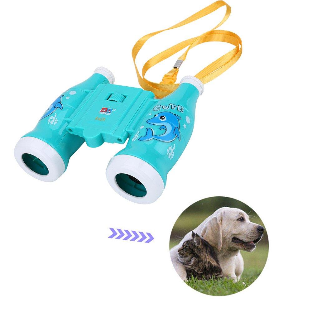 Kids双眼鏡6倍ミニ軽量望遠鏡withストラップ子供教育幼稚園おもちゃで鳥、野生生物や景色を見、コンパクト双眼鏡 B07553W6M2 ブルー ブルー