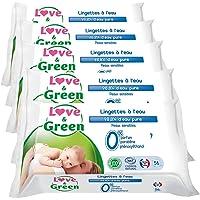 Love & Green - Lingettes A l'Eau 56 Pièces - Lot de 5