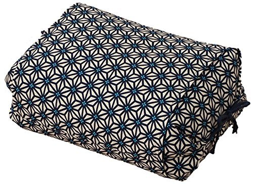 EMOOR Buckwheat Height Adjustable Pillow Size 25 x 18 x 8-18 cm Made in Japan (Blue) (japan import)