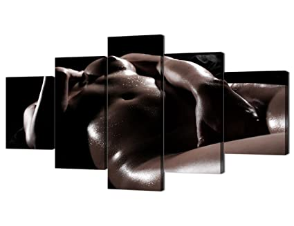 f2e966da215b Erotic Naked Girl Body Paint Canvas for Couples 5 Piece Sexy Nude Woman  Print Wall Art Paintings Pictures for Party Living Room Home Decor ...