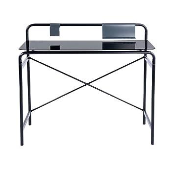 Homy CASA - Mesa de escritorio de cristal con marco mental ...