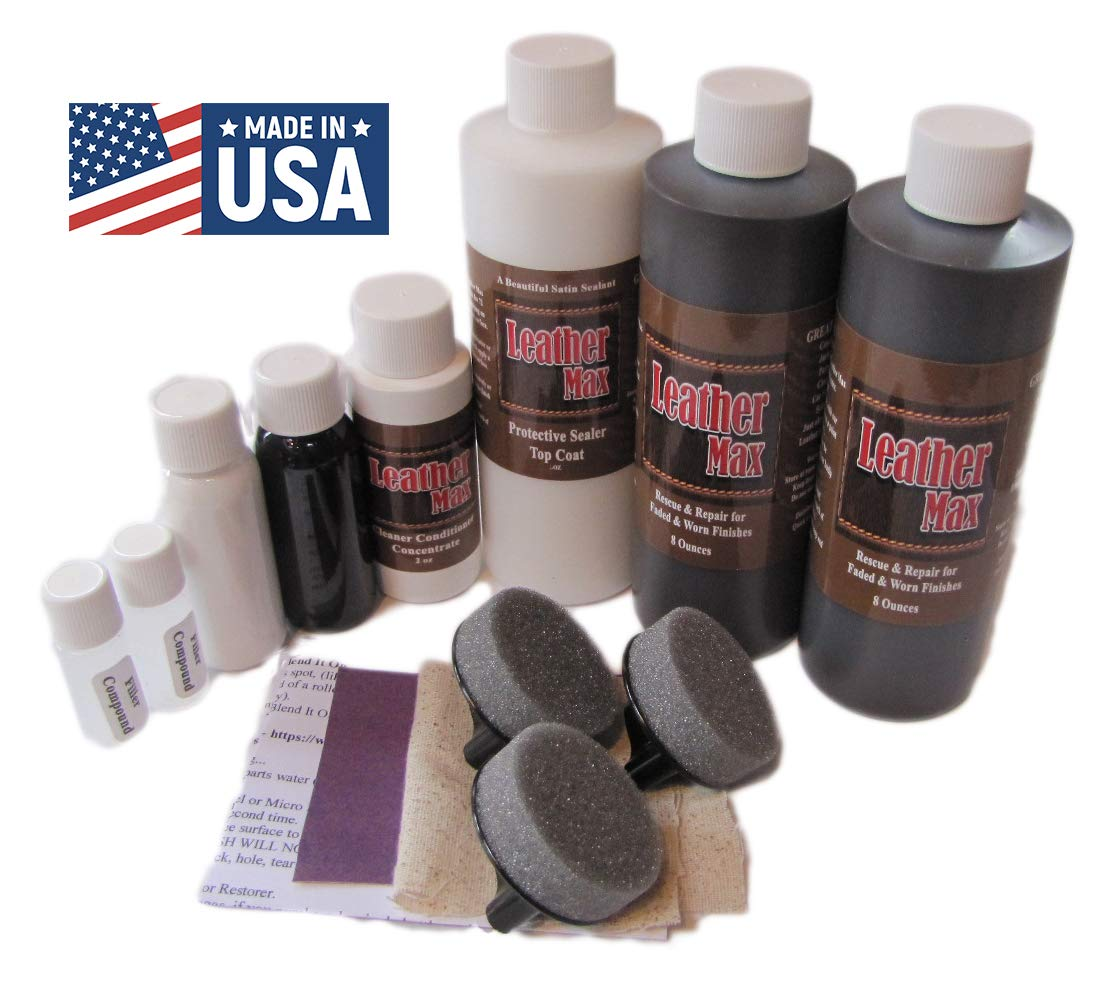 Blend It On Furniture Leather Max Complete Room/Large Sectional Kit/Leather Repair & Refinish/The Only Repair Refinish You Will Ever Need (Mahogany) by Blend It On