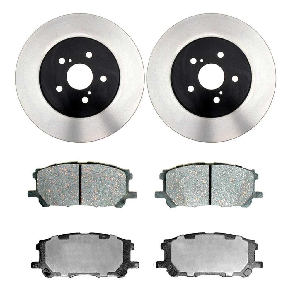 Prime Choice Auto Parts RSCD41394-41394-1005-2-4 Set of 2 Premium Rotors /& 4 Ceramic Pads
