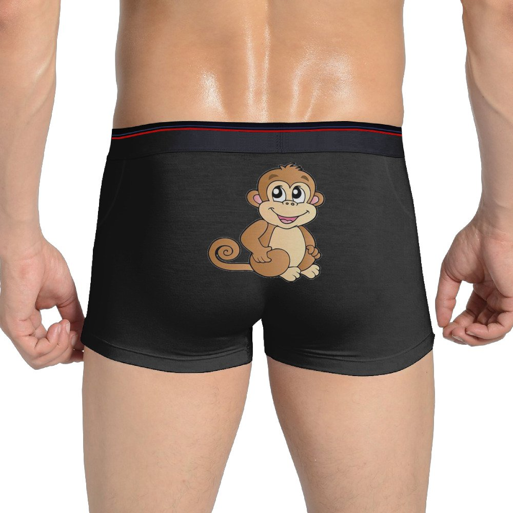 Soft Cute Cartoon Color Kids Monkey Man Boxer Brief