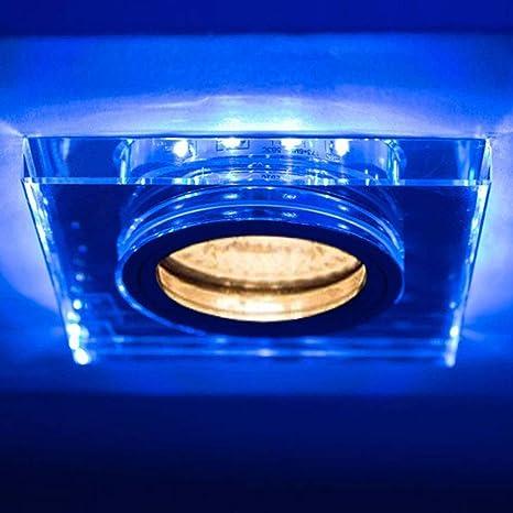 Soren GU10 Foco - Lámpara de techo empotrable con LED azules ...