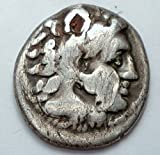 ALEXANDER THE GREAT 336-323 BC HEMIDRACHM 18 MM HOLED ALEXANDER AND ZEUS SEATED ANCIENT GREEK