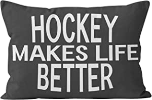 Wesbin Hockey Better Assorted Styles Colors Funny Hidden Zipper Home Decorative Rectangle Throw Pillow Cover Cushion Case Inch 20x30 Queen One Side Design Printed Pillowcase