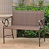 International Caravan Valencia 41 in. Outdoor Wicker Loveseat Bench