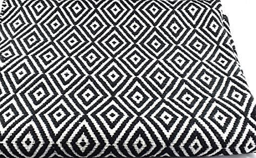 Indra - Alfombra (100% algodón, 120 x 180 cm), color blanco y negro: Amazon.es: Hogar