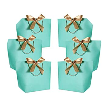 Amazon.com: smile-xj - 10 bolsas de papel con asas para ...