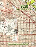 2020 Weekly Planner: Norwood Park, Chicago, Illinois (1953): Vintage Topo Map Cover
