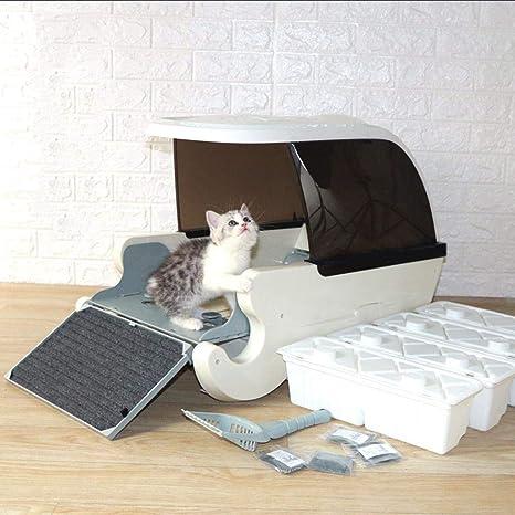 Caja de arena for gatos inteligente automática, inodoro automático ...